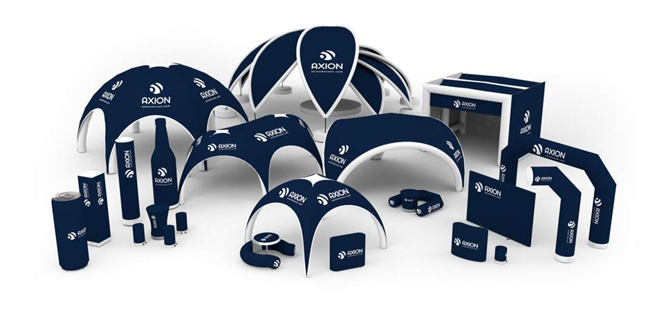 Inflatable products set for event from AXION4EVENT